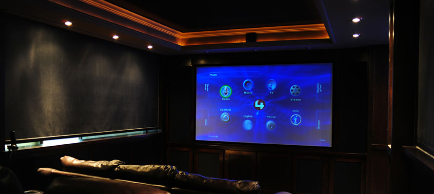 Home theatre shades – slightly open