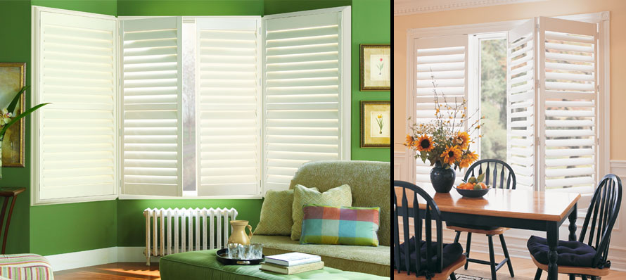 Hunter Douglas Palm Beach Bay Window and Bifold Shutters