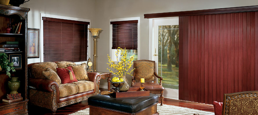 Hunter Douglas Wood Venetian & Vertical Blinds