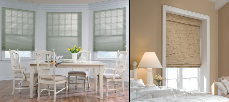 Pleated Shades and Roman Shades