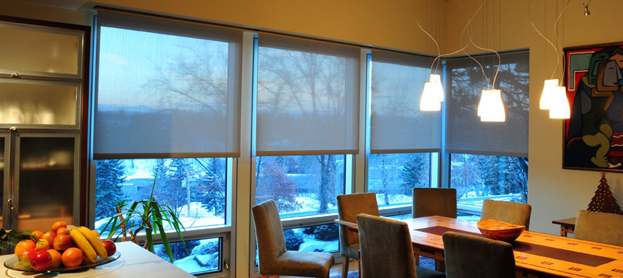 Roller Shades – Dining room